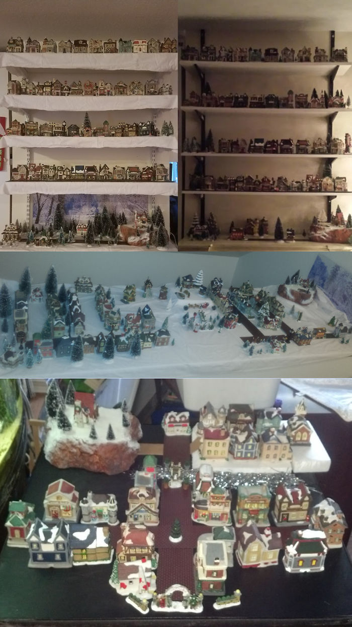 i collect cobblestone corners christmas village pieces bottom middle right left in