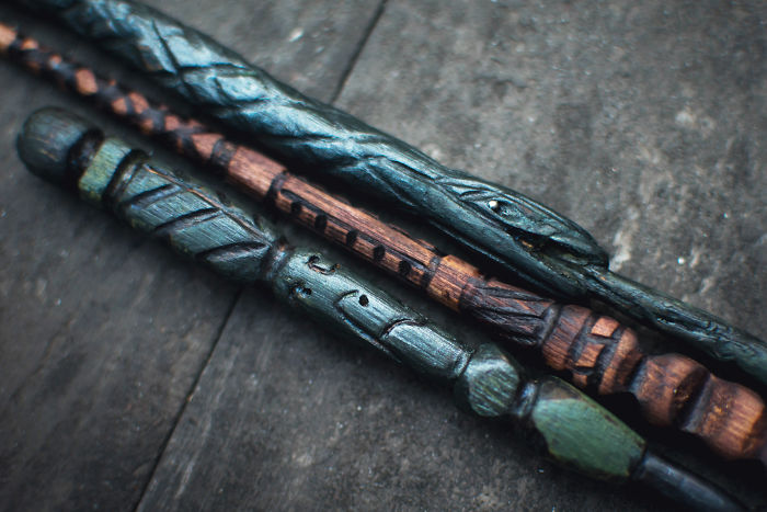 I Made My Own Harry Potter Wands, Because Apparently Wood Carving Is Fun!