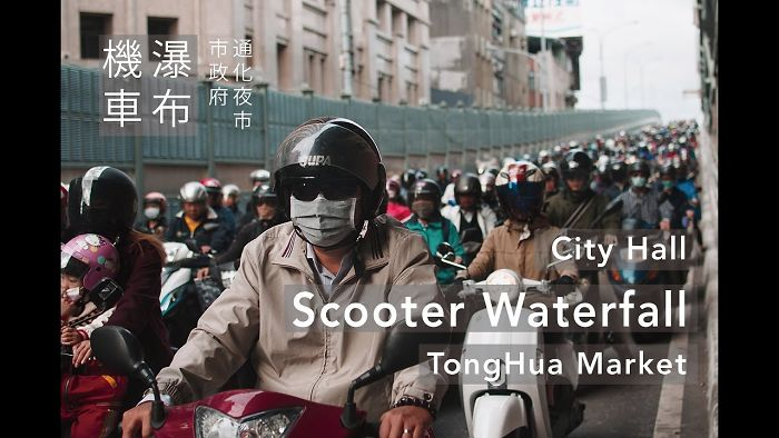 Photographer Captures Insane Daily Commute For Taipei Scooter Riders