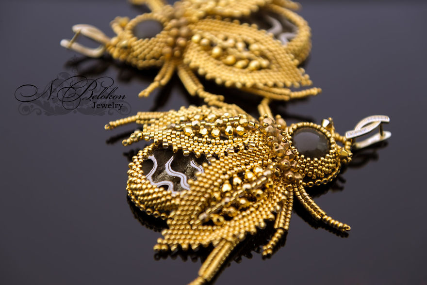 Gorgeous Beaded Insects Made By Russian Craftswoman Completely By Hand