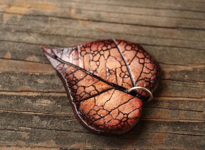 Heart Shaped Leaf Pendants