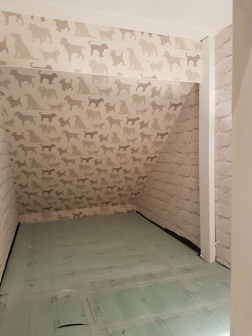 Our Dog Was Getting A Human Sister So I Built Her A Room Under The Stairs It Turned Out Better Than Expected Bored Panda