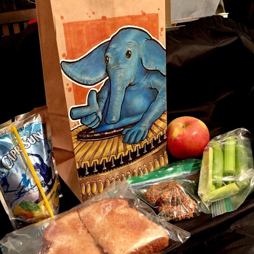 My Son Was Shy So I Started Decorating His Lunch Bags To Help Him Break The Ice At School