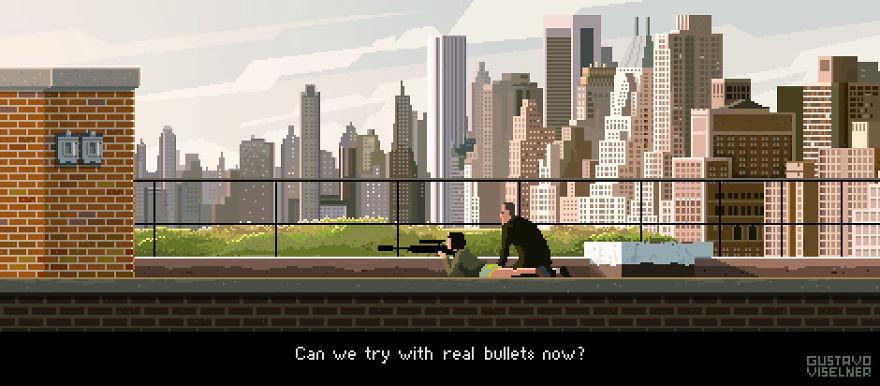 I Made Pixel Art Adventure Game Scenes Based On Tv Series!