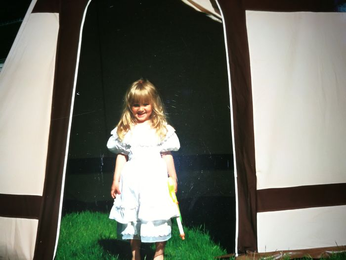 Summer Of 93 And 3 Year Old Me Guarding My Parents 80s Tent With A Water Gun. Do You Dare Enter?