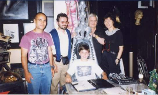 Me And My Father At H.r.giger's House With His Ex-Wife Mia And Assistant. Year 1997. I Was 13...