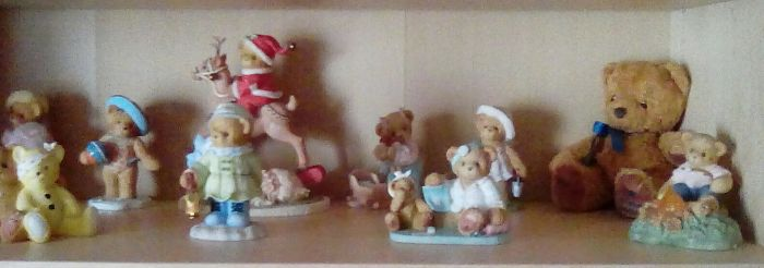 I Collect Cherished Teddies This Is A Small Part Of My Collection And Sadly My High Street Stores Do Not Sell Them Anymore So Have To Look In Charity Stores