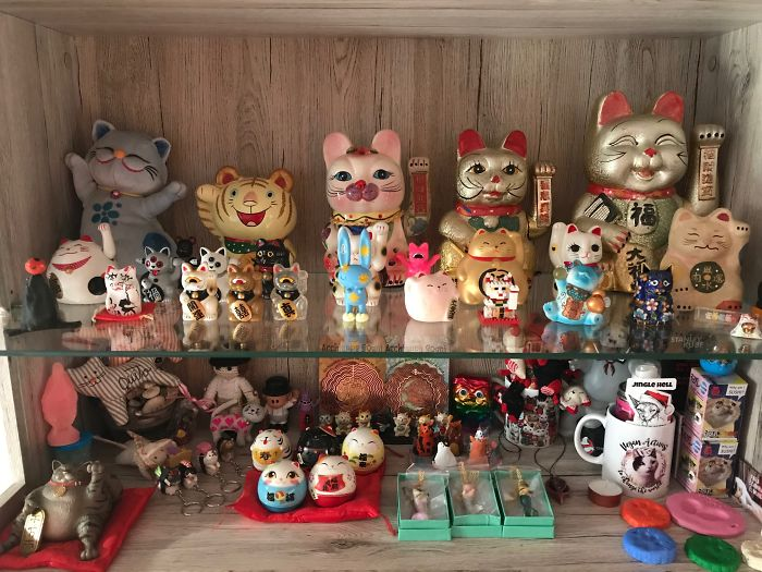 I Collect Lucky Cats (Maneki Neko) From Around The World! 215 For Now!