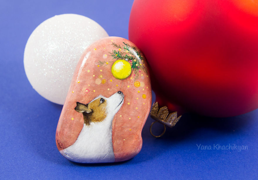 I Painted Cute Dogs On Sea Stones To Celebrate The Year Of The Dog
