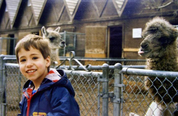 Rude Llama Original Photobomb 1990