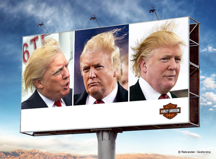 """Make Your Hair Great Again"" – Harley-Davidson Ad Proposal"