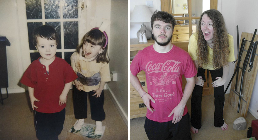 "My Brother And I Recreated Our Childhood Photos For Our Parent""s 30th Anniversary"