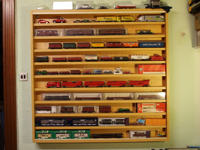 I Collect Model Trains. My Collection Is Small, So This Is Half Of It. The Models Are Mainly Spanish And German Trains. The Scale Is H0 (1:87).