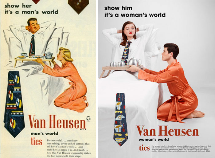 Photographer Reverses Gender Roles In Sexist Vintage Ads And Some