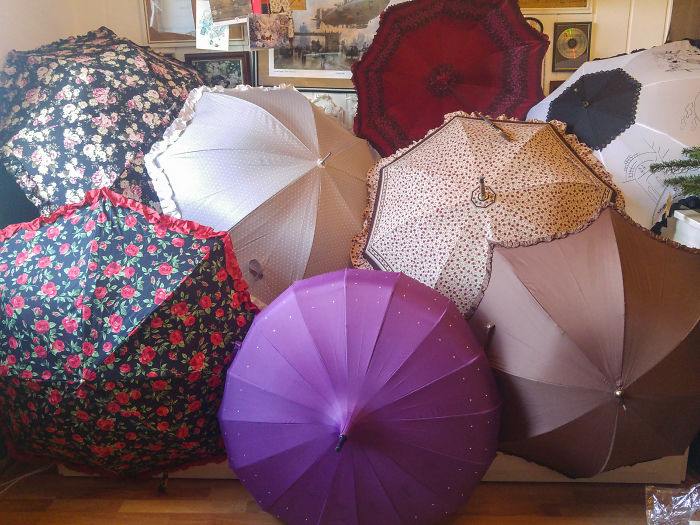 I Collect Umbrellas, Preferably With Ruffled Edge (Part Of My Collection)