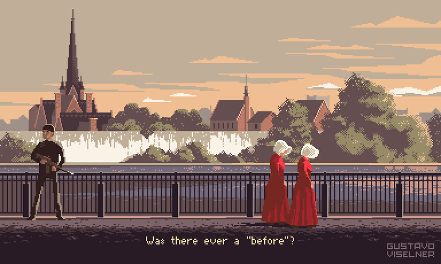 I Made Pixel Art Adventure Game Scenes Based On Tv Series!
