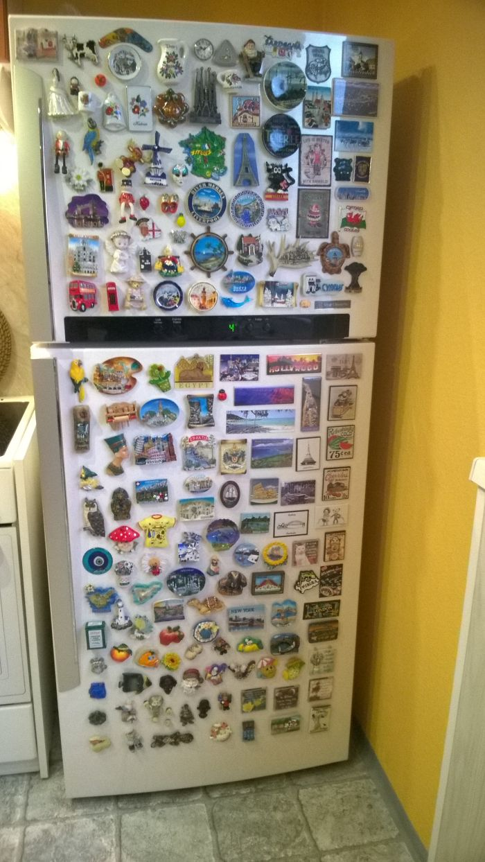 My Mum Collects Fridge Magnets From All Over The World