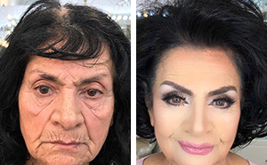 Make Up Artist Makes Clients As Old As 80 Look Decades Younger, Shows Just How Powerful Makeup Is