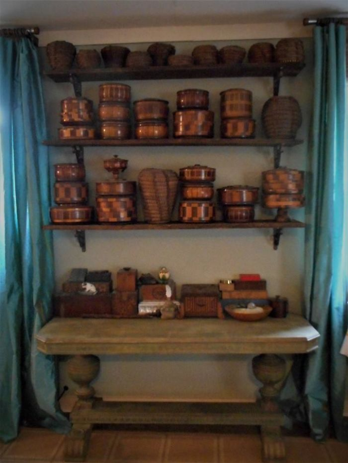 I Collect Redwood Boxes, Pine Needle Baskets And Other Small Wood Boxes