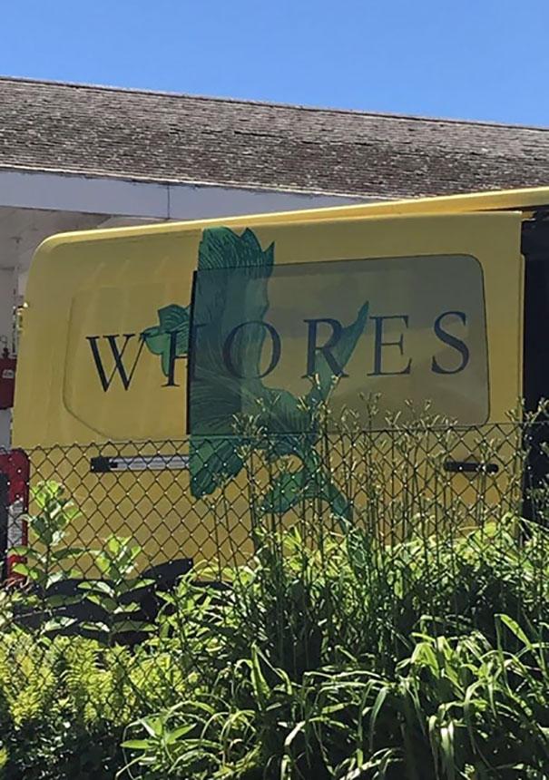 This Company Van When The Door Is Opened
