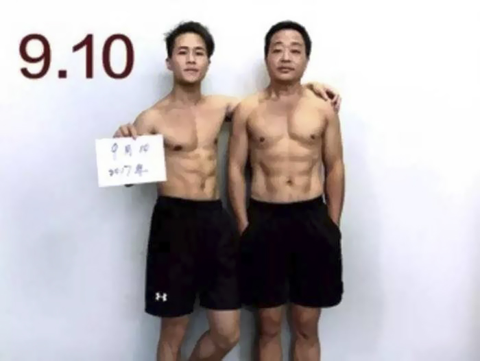 Chinese Family Spends 6 Months Working Out, And Here Are Their Before-And-After Pics