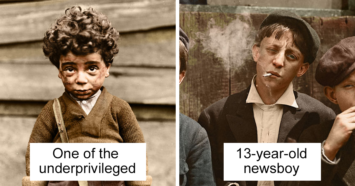 Ive colourised these 100 year old photos of american child labour and heres the result bored panda