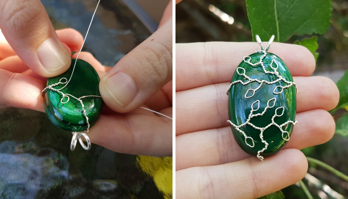 """Leafy Branches"" Pendant Tutorial"