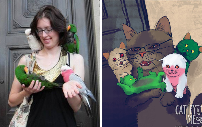 Digital Artist Turns Regular People Into Amazing Cats