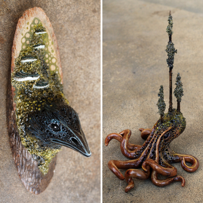 Fantasy Creature Sculptures And Figurines, Made With Polymer Clay