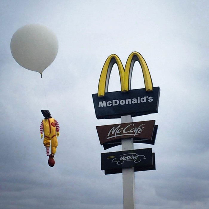 I Hanged Ronald McDonald Above McDonald's Restaurant To Draw Attention To Shocking Facts