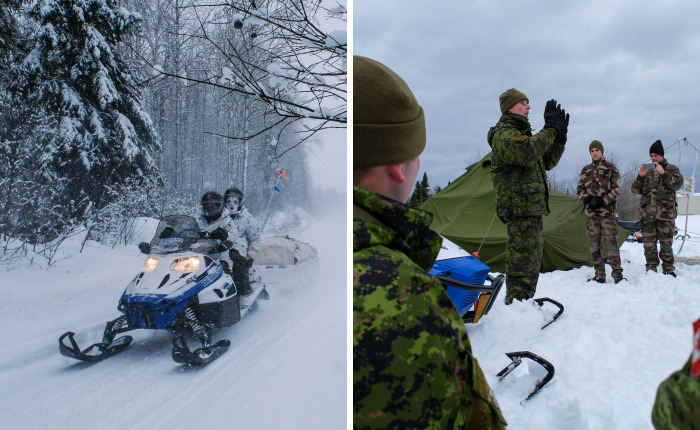 I Crossed Quebec By Snowmobile With The Army