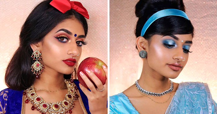 Model Shows How Indian Disney Princesses Would Look Like, And Some Look Better Than Originals