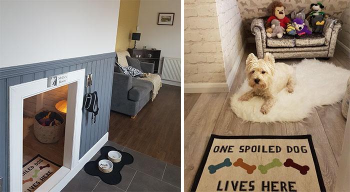 Nuestro perro va a tener una hermana humana, así que le construí un cuarto bajo las escaleras y quedó mejor de lo que pensaba