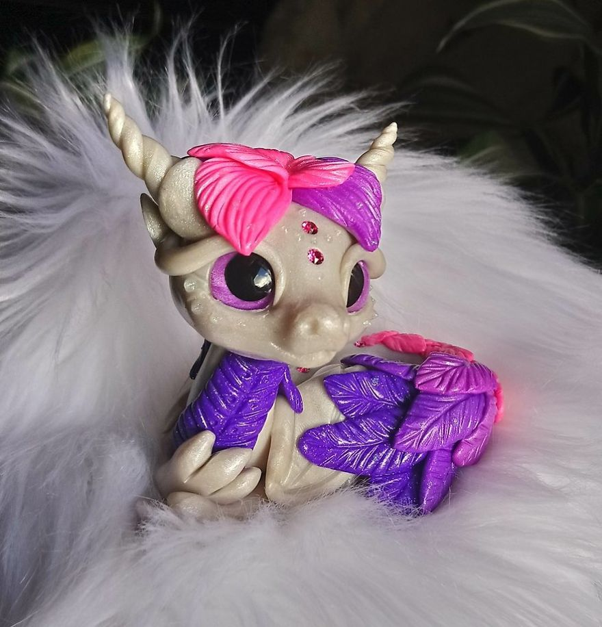 Purple / Pink Feather Dragon