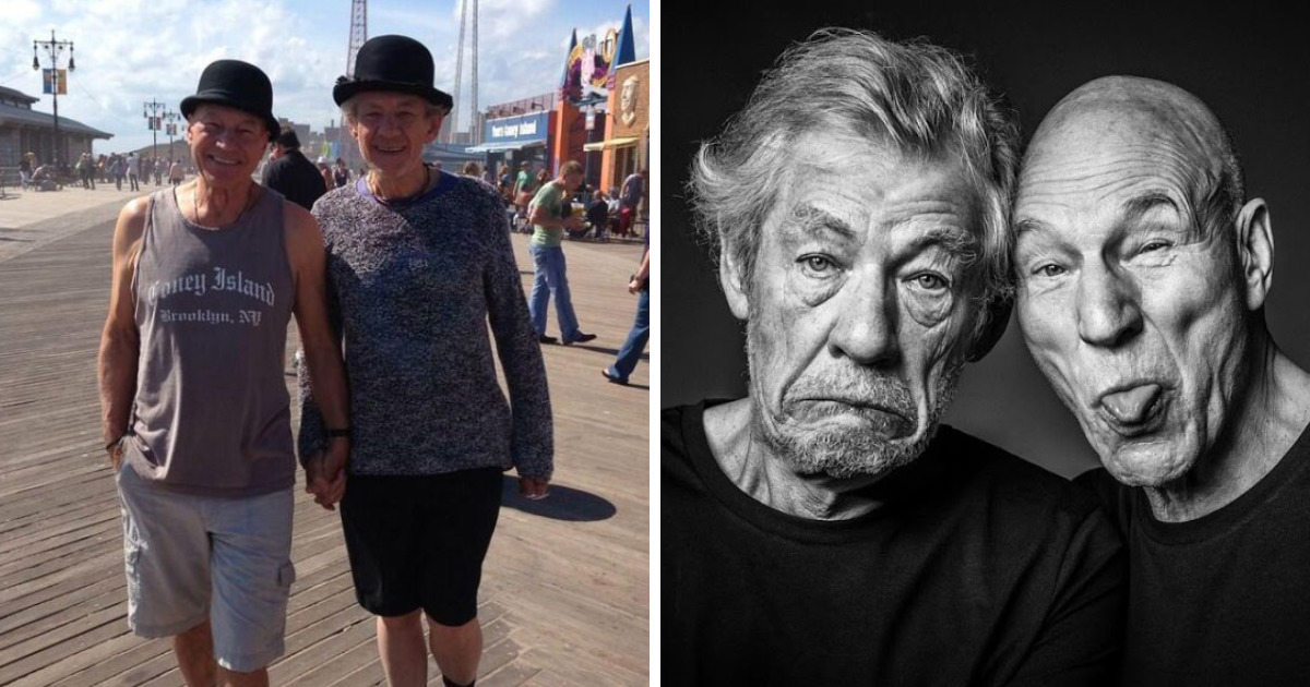 30 Of The Funniest Reasons Why Patrick Stewart And Ian McKellen Are BFFs