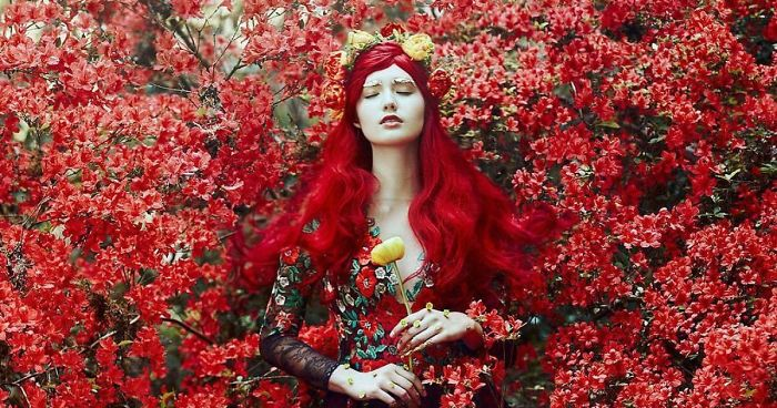 This Photographer Photographs Women Like No One Else And The - Photographer captures fairytale like portraits women animals