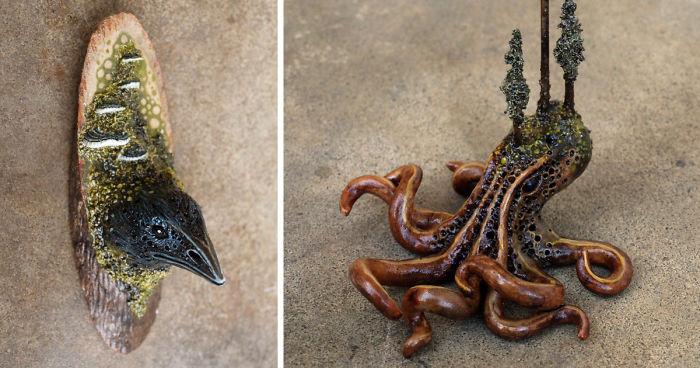 funny sculpture Pottery Art for Animal Lovers Veterinarian VET /& DOG Figurine