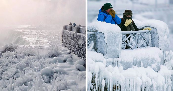 It S So Cold In North America That Niagara Falls Is Frozen