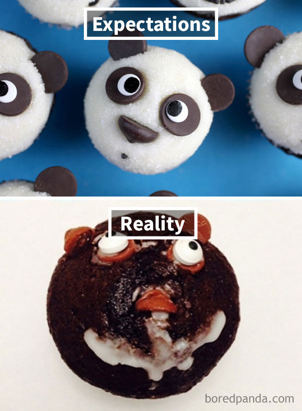 They Are Very Yummy Cupcakes That Are Decorated In A Scarier Than Intended Manner