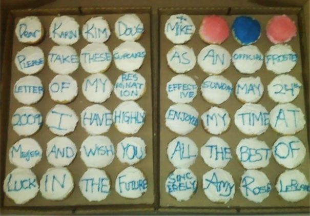 Resignation Letter On Cupcakes