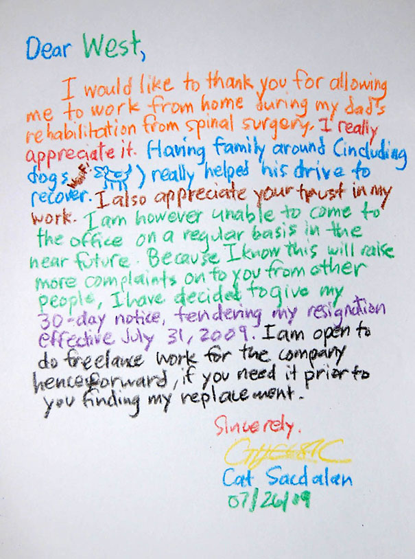 Best Resignation Letter Ever From A Graphics Designer