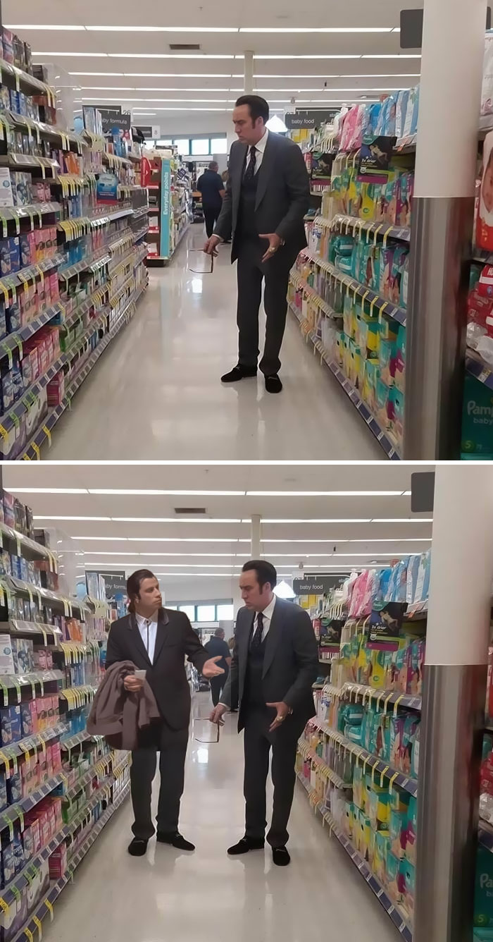 Nicholas Cage In Walgreens In The Tampon Aisle