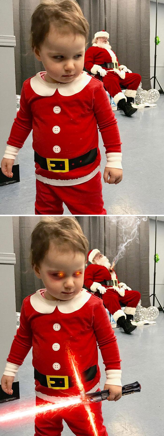 Toddler Visiting Santa