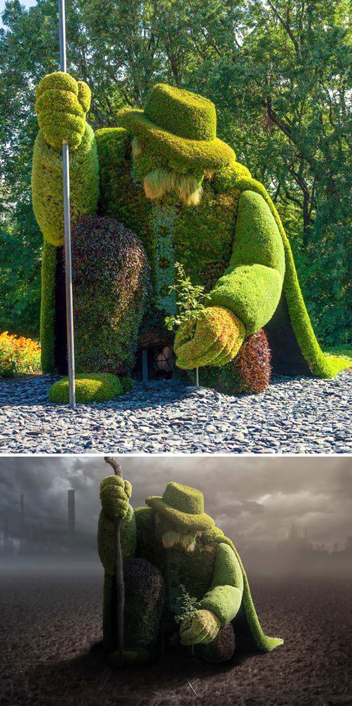 Green Man Planting