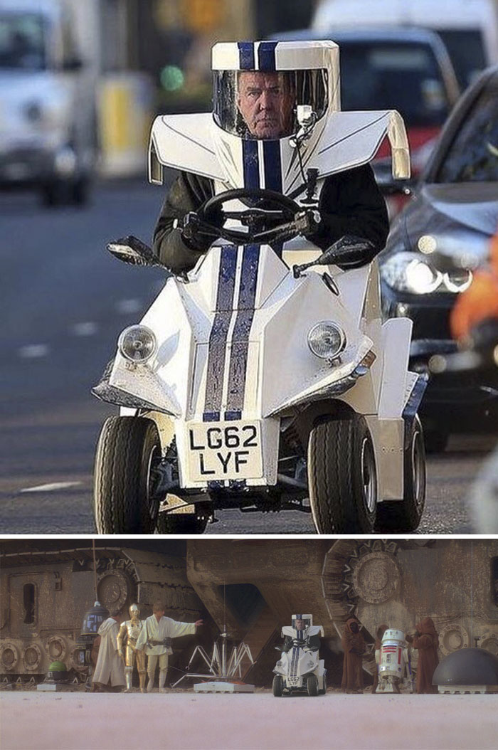Jeremy Clarkson Riding... Whatever This Is