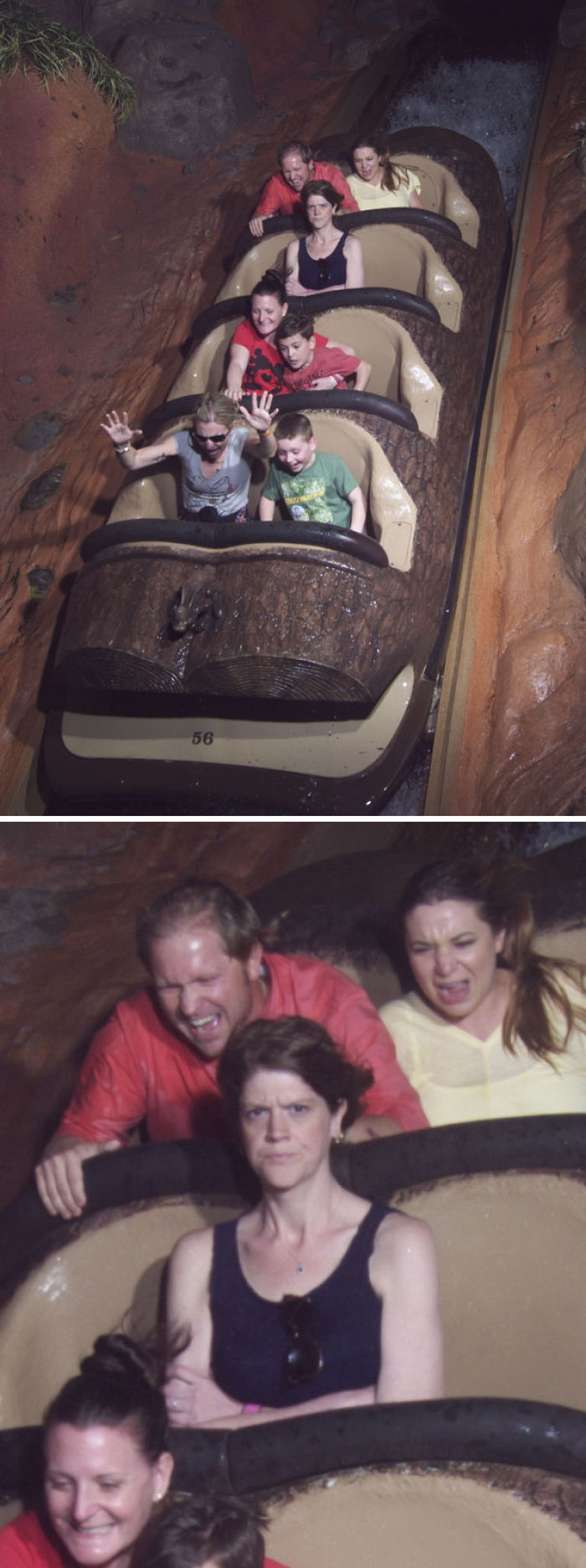 No quería montar ahí con mi esposa. Ella se molestó un poco