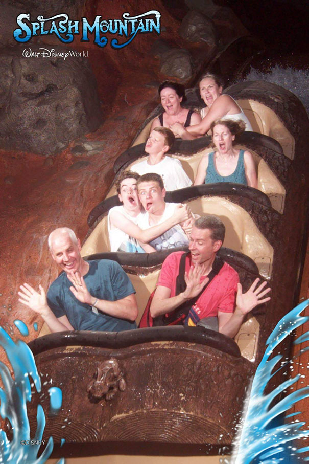 My Family And I Took Full Advantage Of The Fact We Had Perfect Numbers For Splash Mountain, My Favorite Photo Of Our Trip