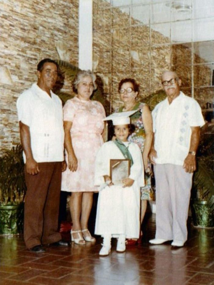 Kinder Graduation Day- Circa 1976. The Only Pic I Have Of Both Sets Of Grandparents.