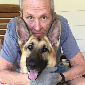 Su dueño fue atacado por 2 pitbulls y su perro Katy Mae lo protegió con su cuerpo. Se llevó varios mordiscos cerca de la yugular.