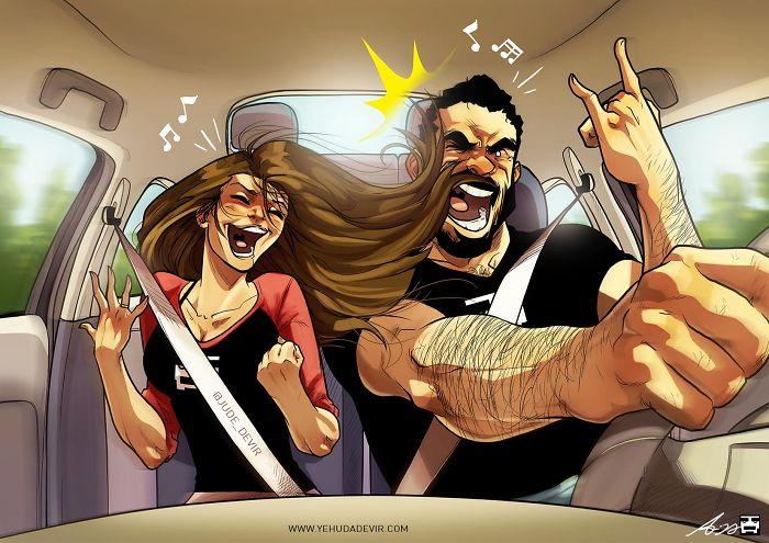 ¡Karaoke en el coche!